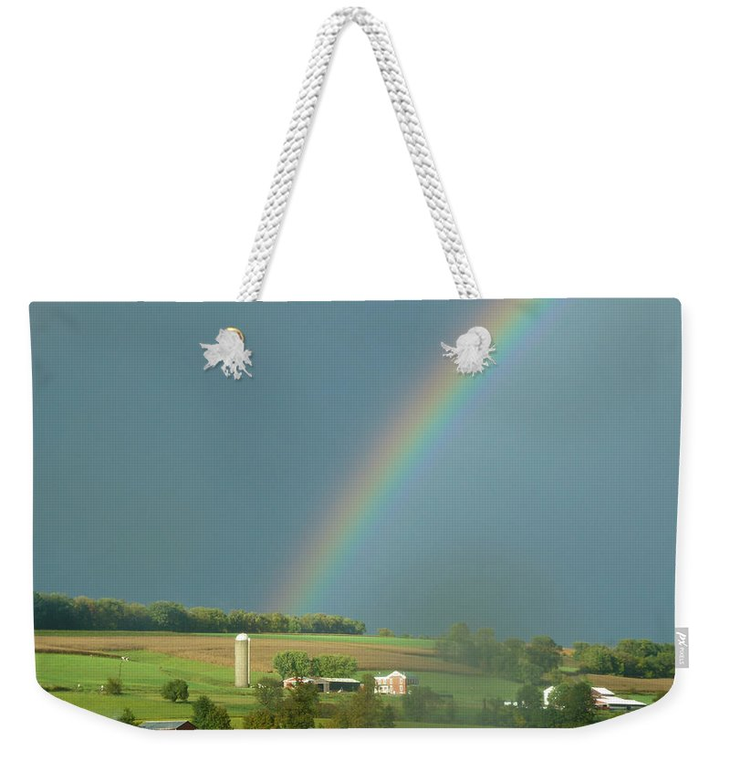 Landscape Weekender Tote Bag featuring the photograph Pot Of Gold by Barbara Jacobs