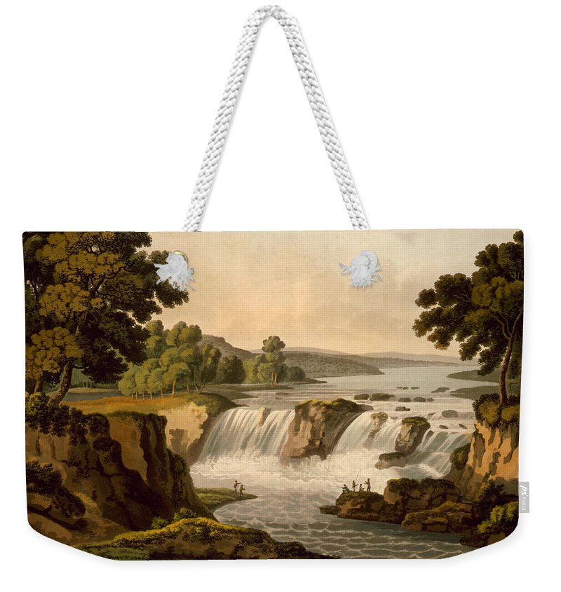 1802 Weekender Tote Bag featuring the photograph Potomac River: Waterfall by Granger
