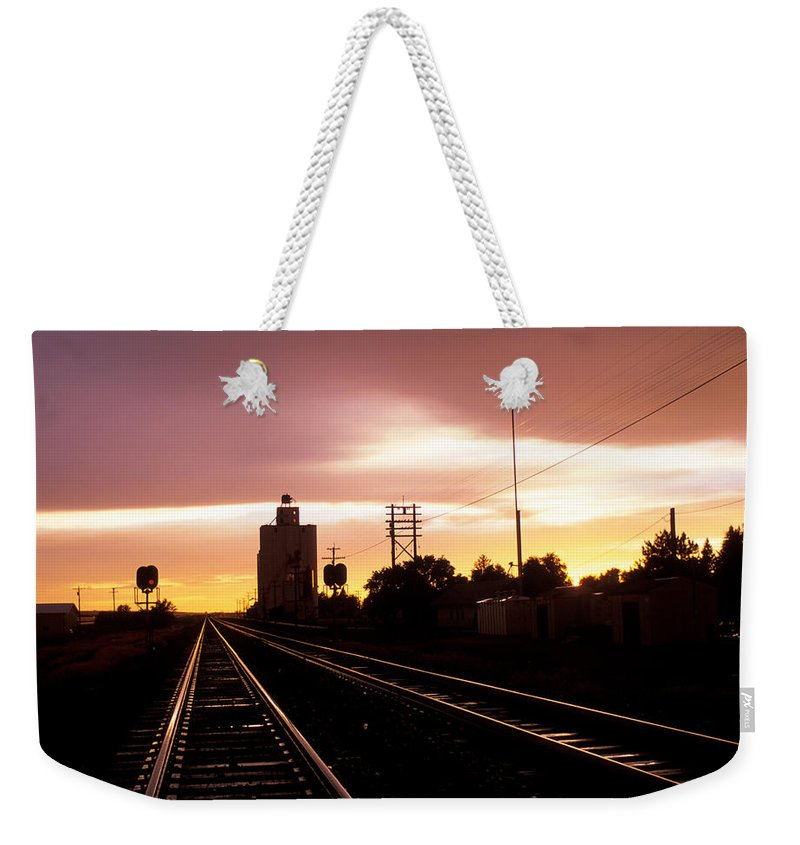 Potter Weekender Tote Bag featuring the photograph Potter Tracks by Jerry McElroy