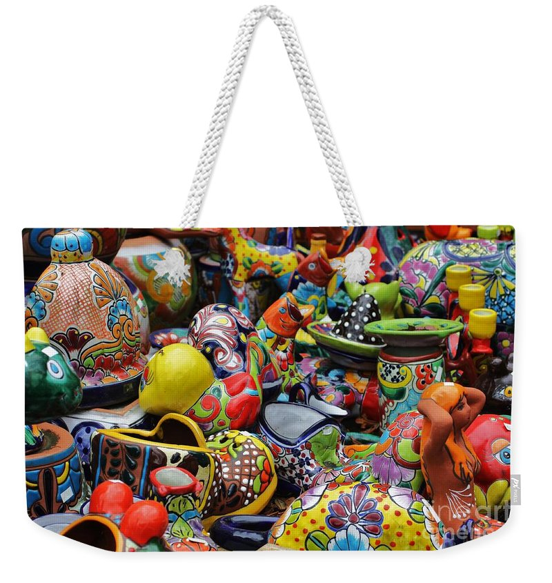 Mermaid Weekender Tote Bag featuring the photograph Pottery  by Chuck Hicks
