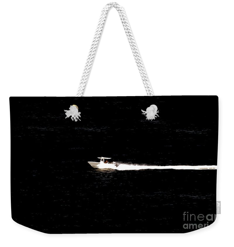 Power Boating Weekender Tote Bag featuring the photograph Power Boating by David Lee Thompson