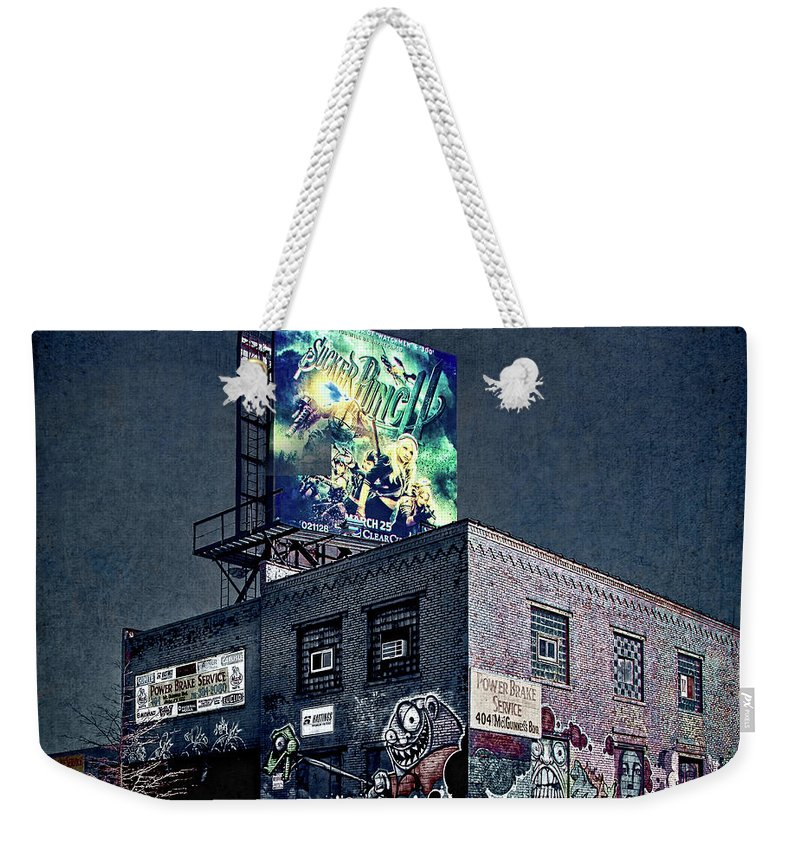 Graffiti Weekender Tote Bag featuring the photograph Power Brakes by Chris Lord