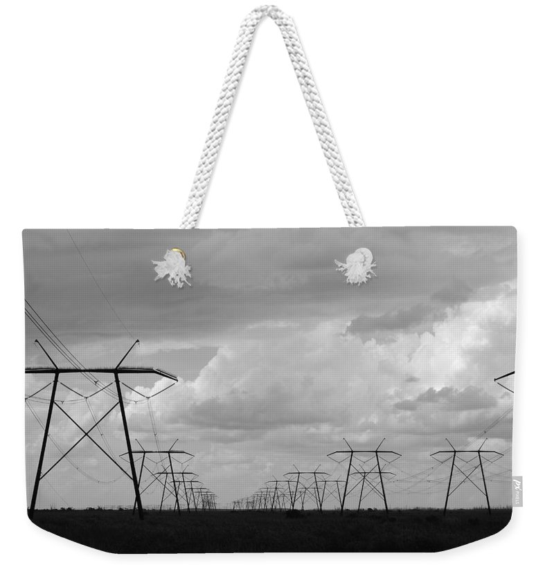 Sky Weekender Tote Bag featuring the photograph Power In The Sky by Rob Hans