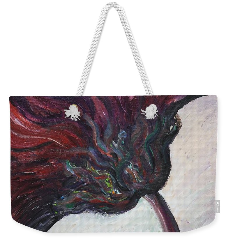 Purple Weekender Tote Bag featuring the painting Power Of Purple by Nadine Rippelmeyer