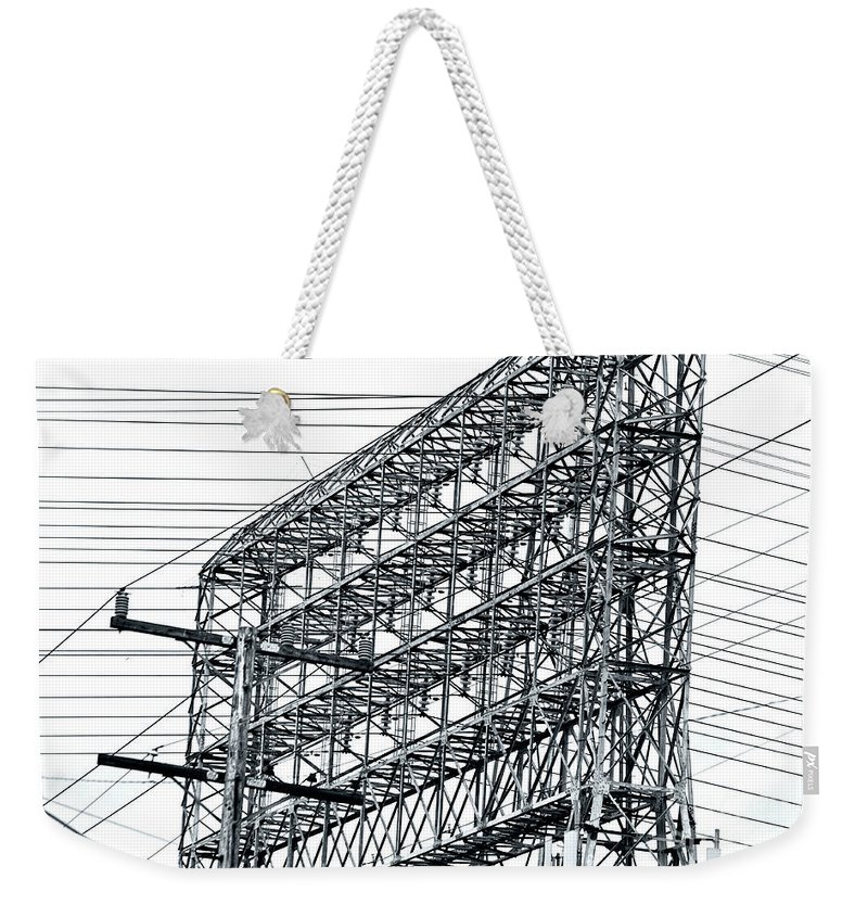 Clay Weekender Tote Bag featuring the photograph Power Play by Clayton Bruster