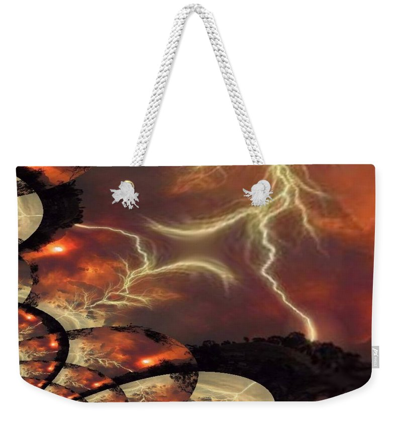 Lightning Weekender Tote Bag featuring the photograph Power Punch by Tim Allen