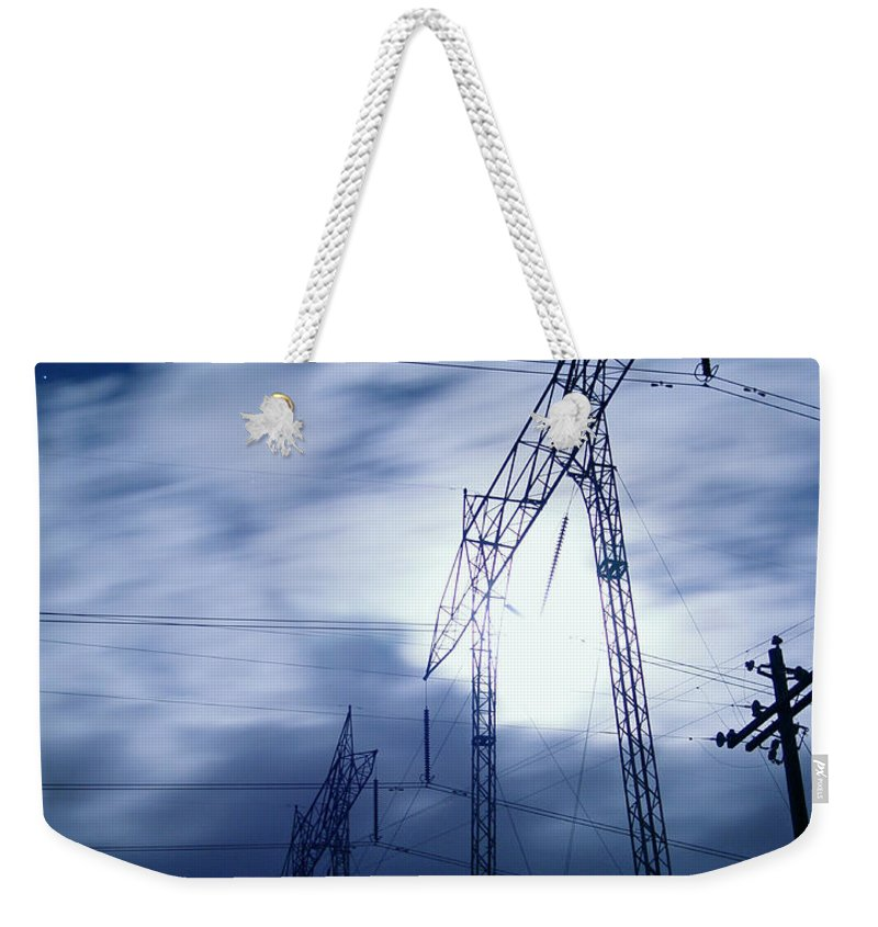 Clouds Weekender Tote Bag featuring the photograph Power Surge by Peter Piatt