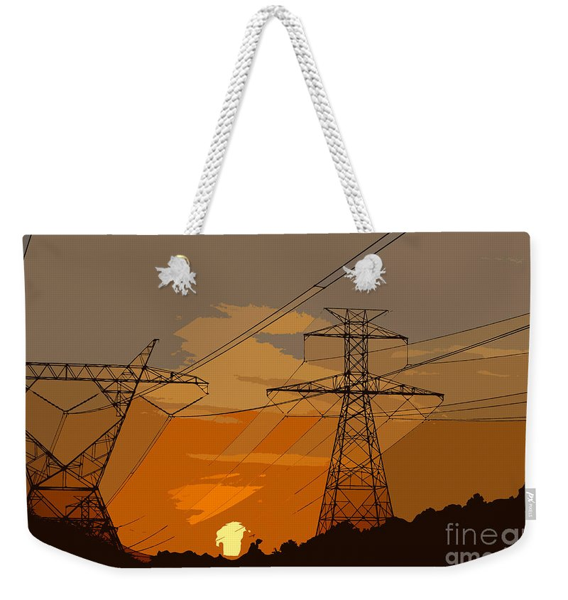 Power Weekender Tote Bag featuring the painting Power To The People by David Lee Thompson
