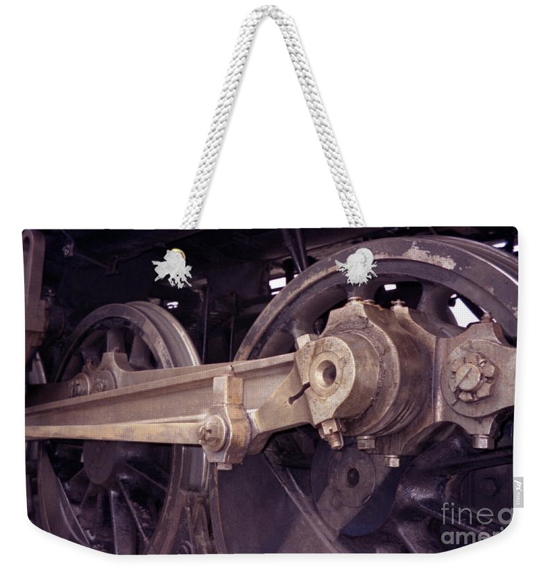 Trains Weekender Tote Bag featuring the photograph Power Train by Richard Rizzo