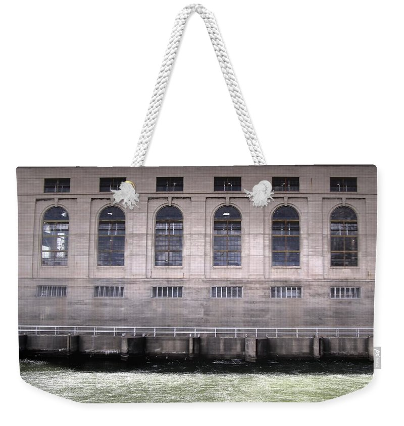 Black Eagle Dam Weekender Tote Bag featuring the photograph Powerhouse by Susan Kinney