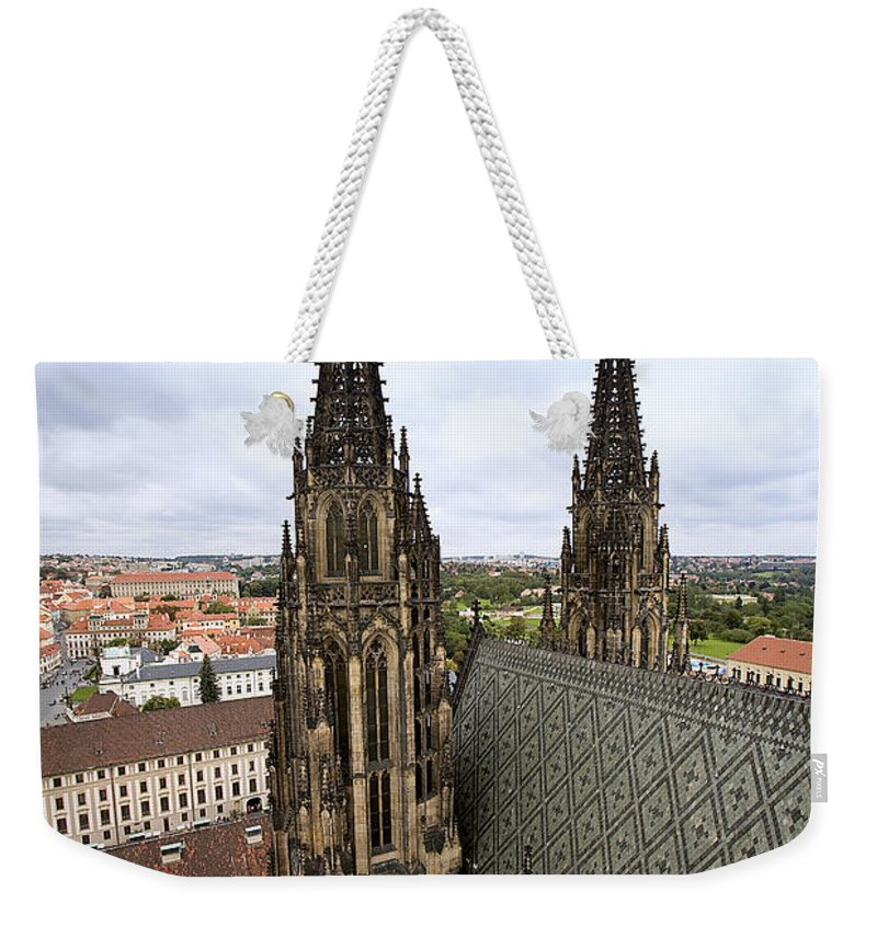 Prague Weekender Tote Bag featuring the photograph Prague Castle by Madeline Ellis