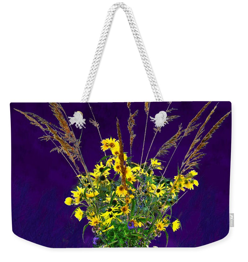 Flowers Weekender Tote Bag featuring the photograph Prairie Bouquet by Steve Karol