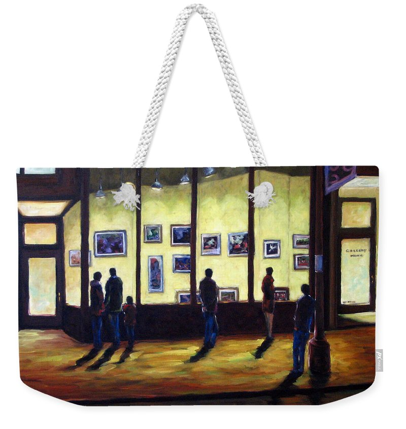Urban Weekender Tote Bag featuring the painting Pranke by Richard T Pranke