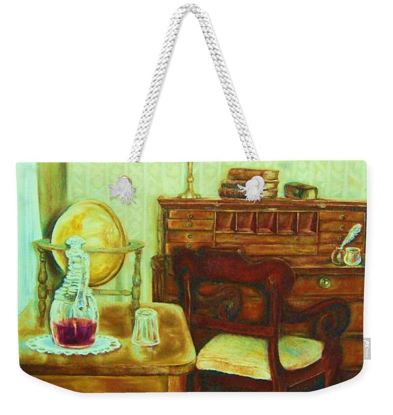 Prayer Room Weekender Tote Bag featuring the painting Prayer Closet by Carole Spandau