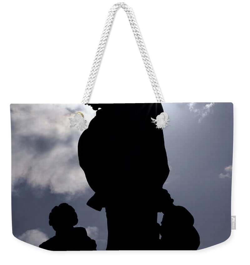 Sculpture Weekender Tote Bag featuring the photograph Preacher by Michal Boubin