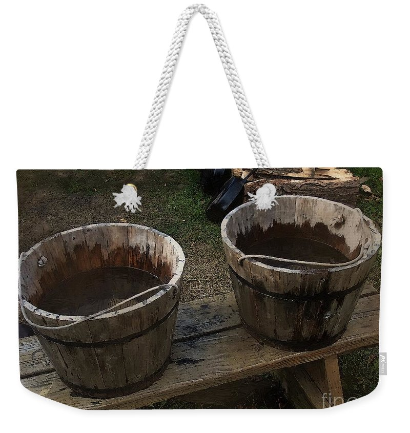 Bench Weekender Tote Bag featuring the painting Precious Commodity by RC DeWinter