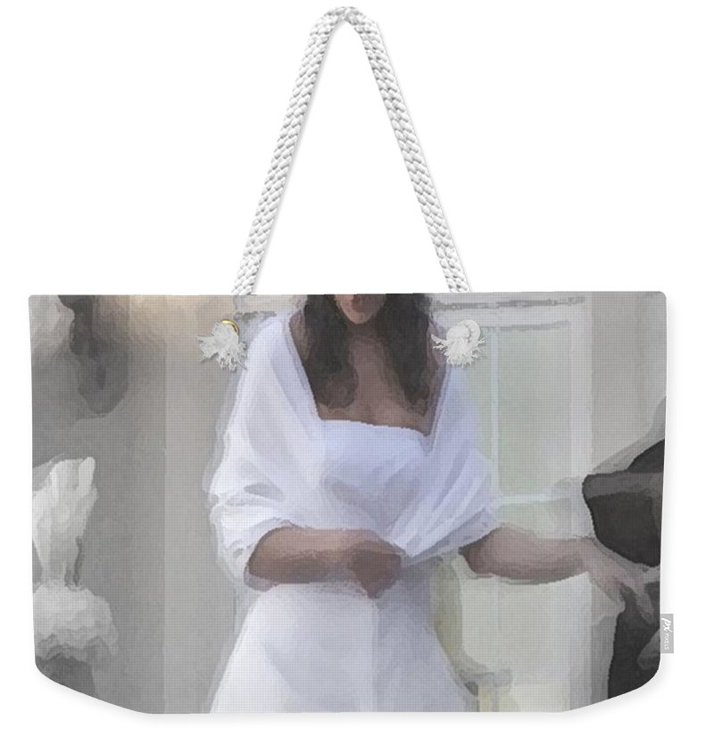 Wedding Weekender Tote Bag featuring the digital art Precious Memories by Robert Meanor