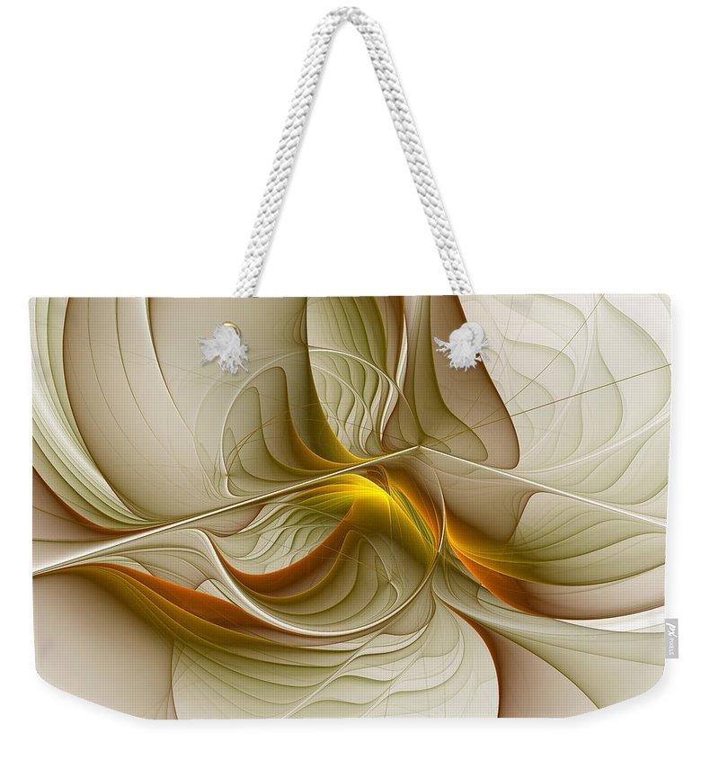 Abstract Weekender Tote Bag featuring the digital art Precious Metals by Gabiw Art