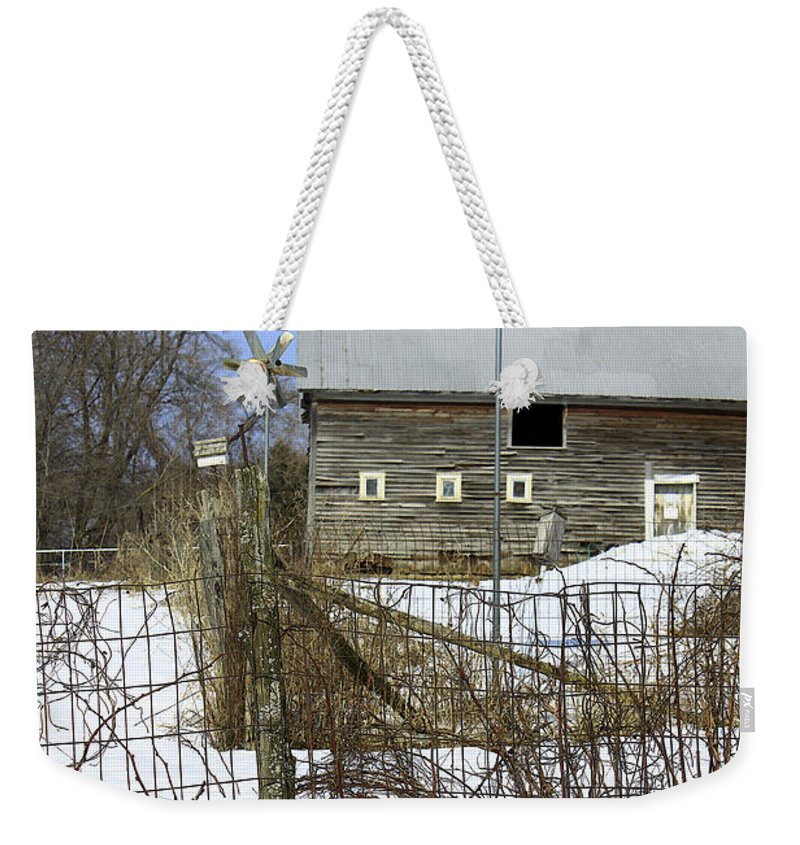 Country Weekender Tote Bag featuring the photograph Premium Bird House View by Deborah Benoit