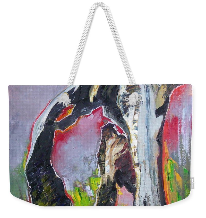 Oil Weekender Tote Bag featuring the painting Presentiment by Sergey Ignatenko