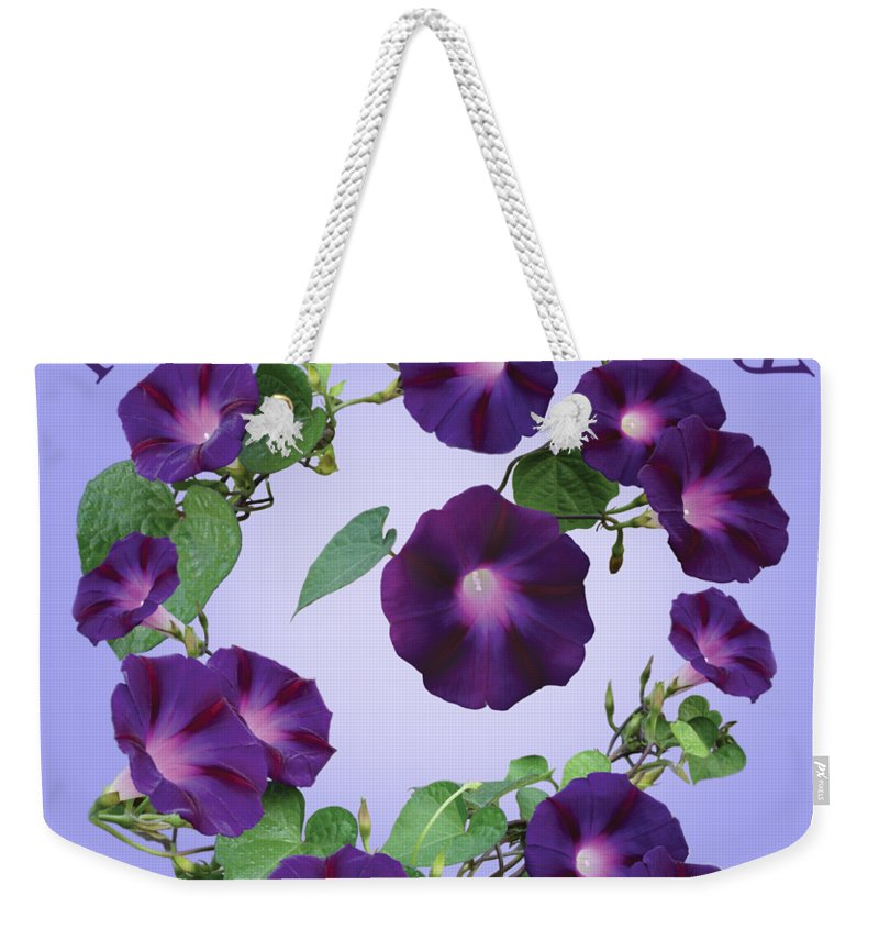 Morning Glory Weekender Tote Bag featuring the photograph President Tyler Morning Glory by Chris Busch