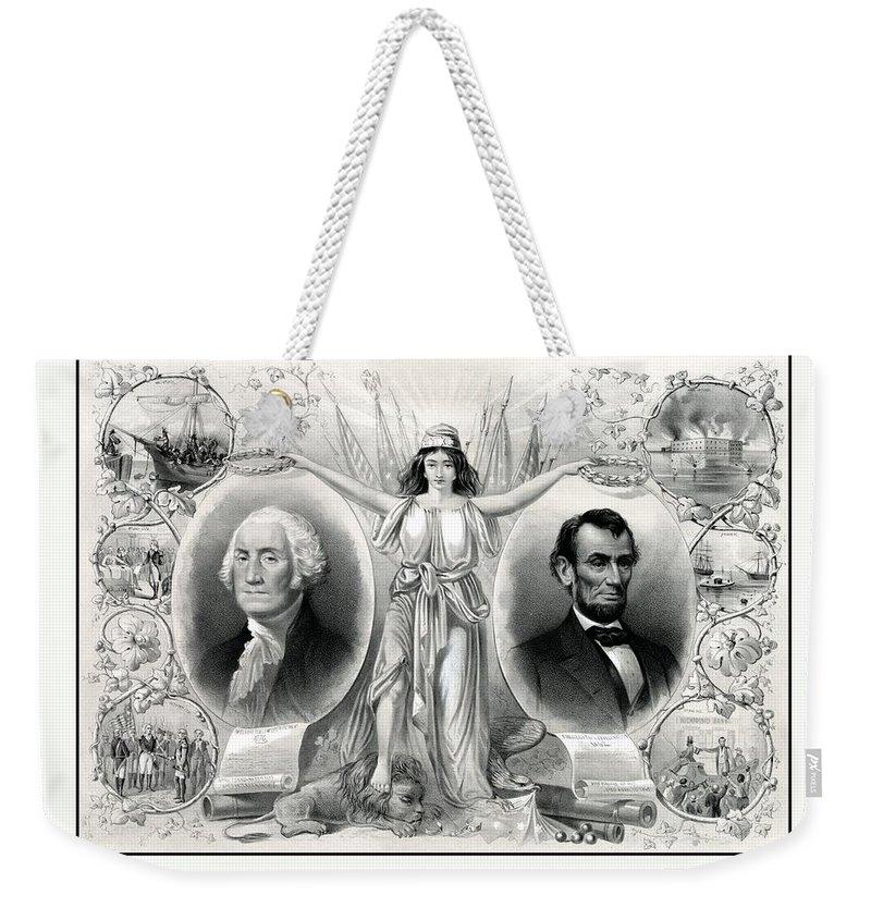 United States Presidents Drawings Weekender Tote Bags