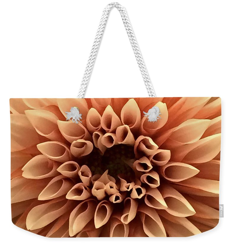 Flower Weekender Tote Bag featuring the photograph Pretty In Pink by Angel Bentley