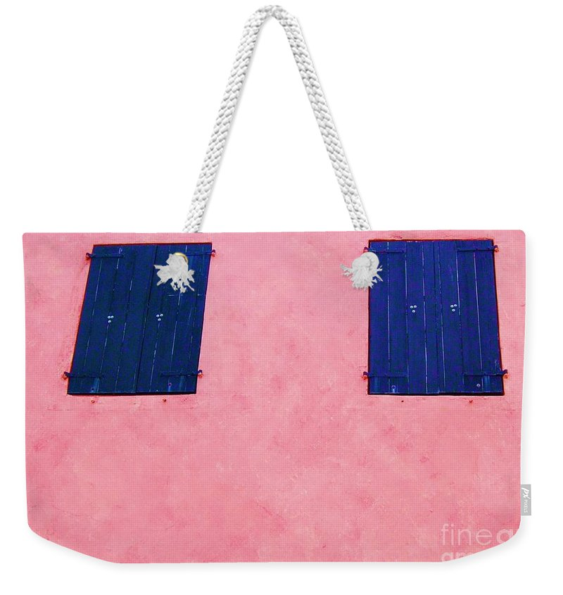 Shutters Weekender Tote Bag featuring the photograph Pretty In Pink by Debbi Granruth