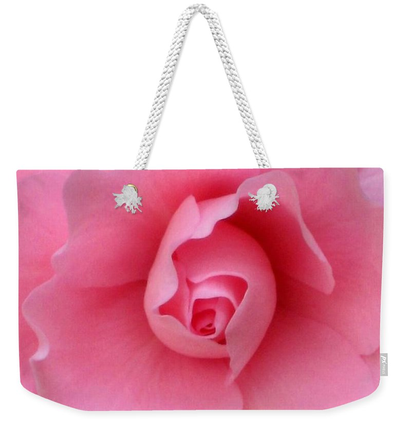 Floral Weekender Tote Bag featuring the photograph Pretty In Pink by Marla McFall