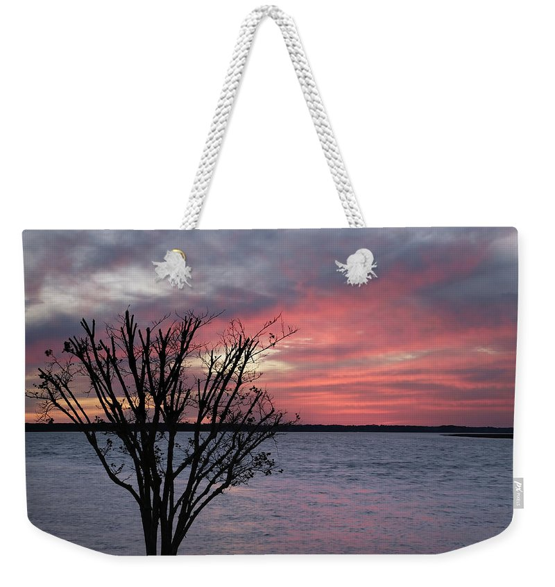 Sunset Weekender Tote Bag featuring the photograph Pretty In Pink by Phill Doherty