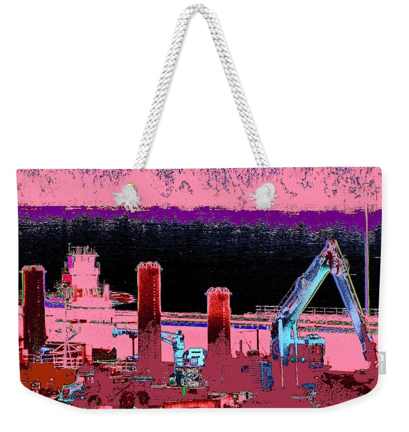 Abstract Weekender Tote Bag featuring the photograph Pretty In Pink by Rachel Christine Nowicki