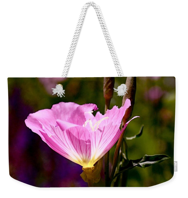 Pink Weekender Tote Bag featuring the photograph Pretty In Pink by Rona Black