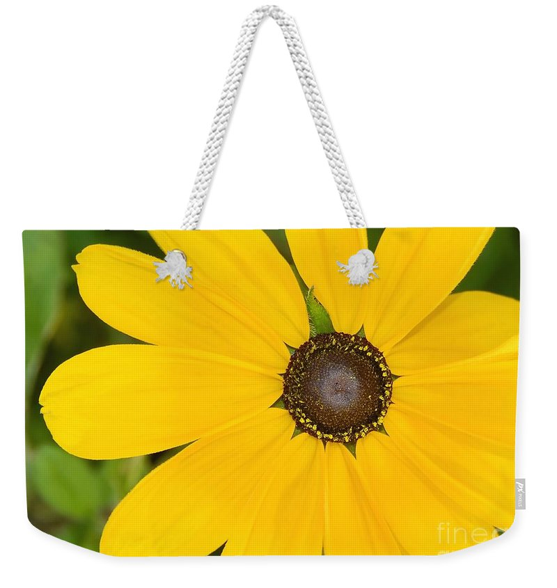 Yellow Flower Weekender Tote Bag featuring the photograph Pretty In Yellow by David Lee Thompson