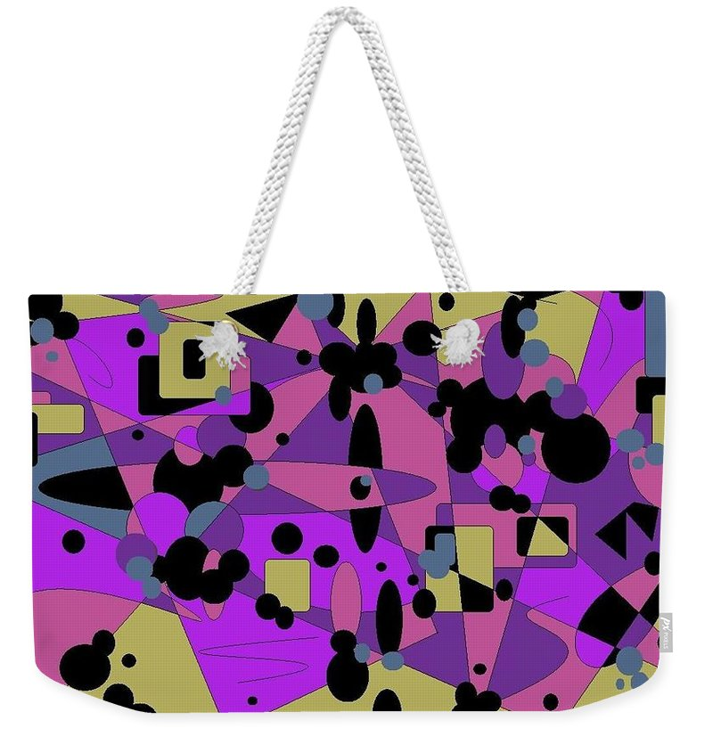 Digital Abstract Weekender Tote Bag featuring the digital art Pretty Picture by Jordana Sands