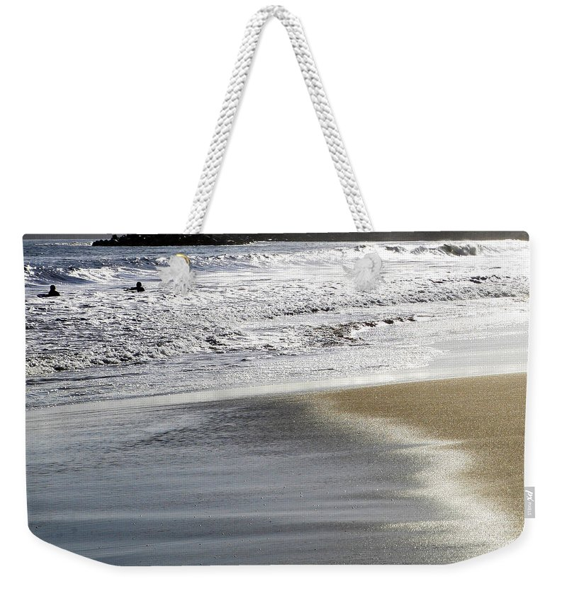 Beach Weekender Tote Bag featuring the photograph Pretty Sand by Marilyn Hunt