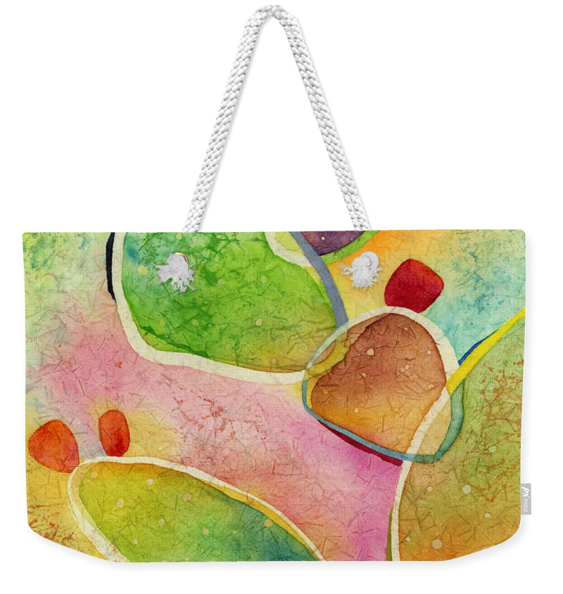 Cactus Weekender Tote Bag featuring the painting Prickly Pizazz 1 by Hailey E Herrera