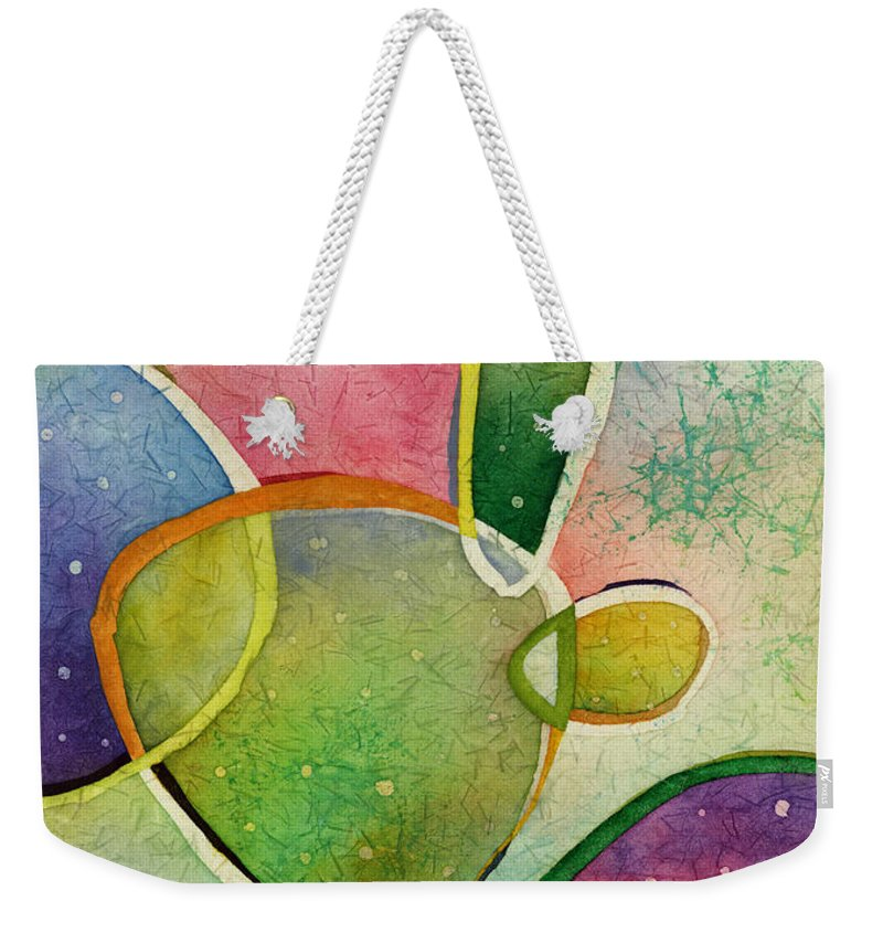 Cactus Weekender Tote Bag featuring the painting Prickly Pizazz 2 by Hailey E Herrera