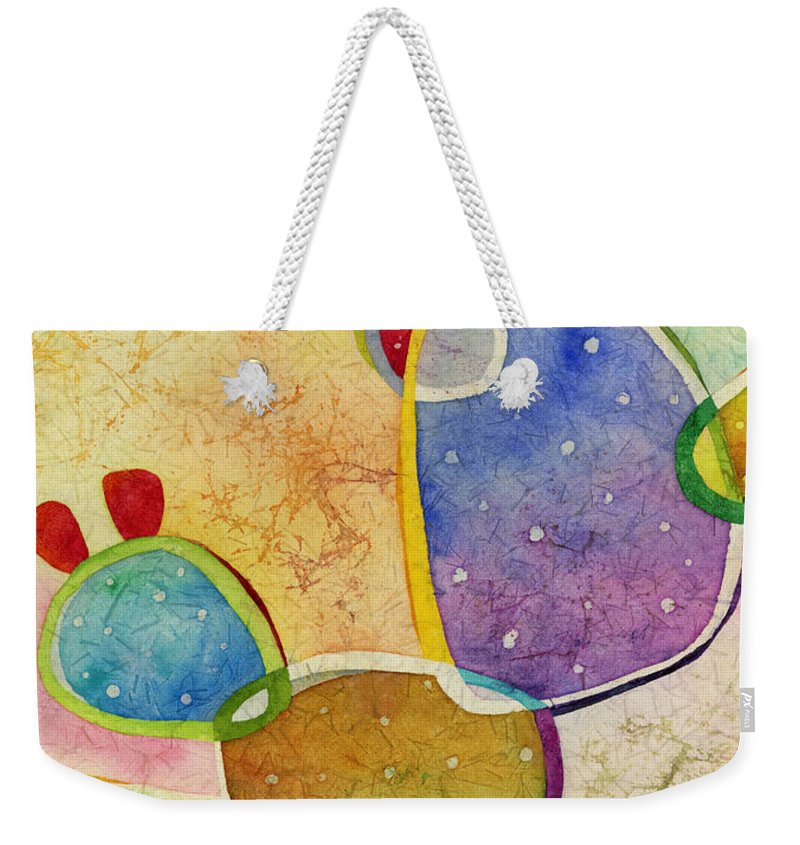 Cactus Weekender Tote Bag featuring the painting Prickly Pizazz 3 by Hailey E Herrera