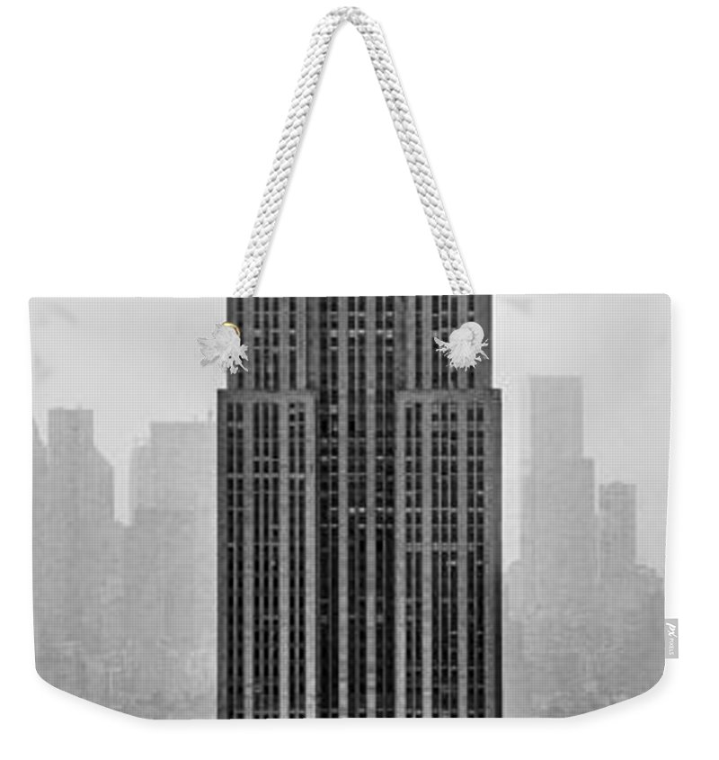 Empire State Building Weekender Tote Bag featuring the photograph Pride Of An Empire by Az Jackson