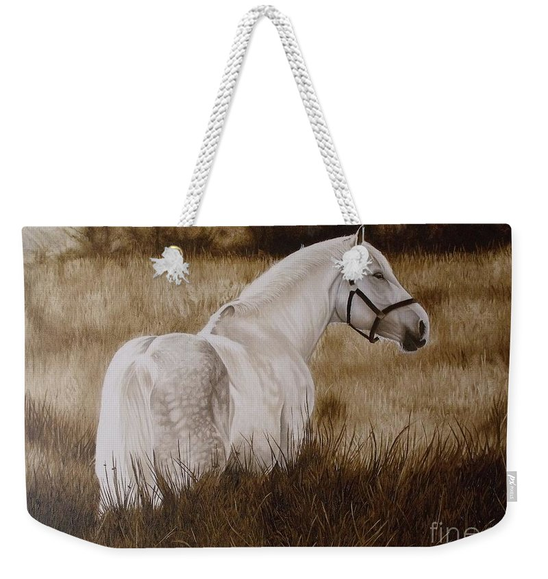 Portrait Weekender Tote Bag featuring the painting Pride Of The Lough by Pauline Sharp