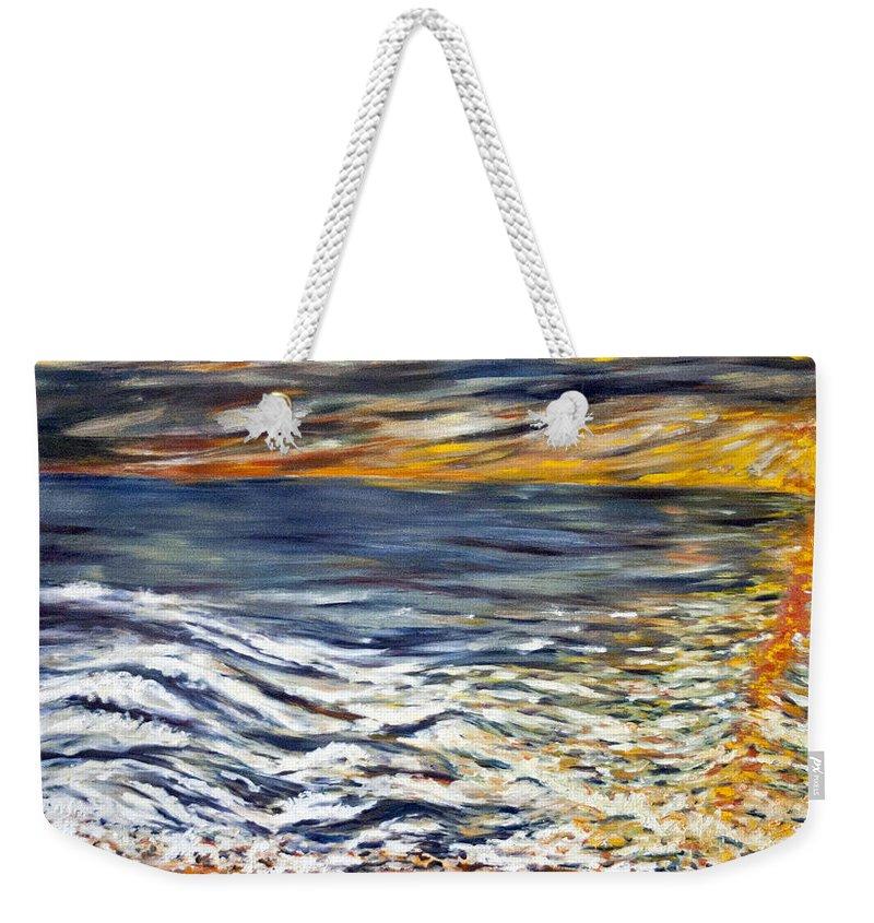 Landscape Weekender Tote Bag featuring the painting Priliv Meni Vse by Pablo de Choros