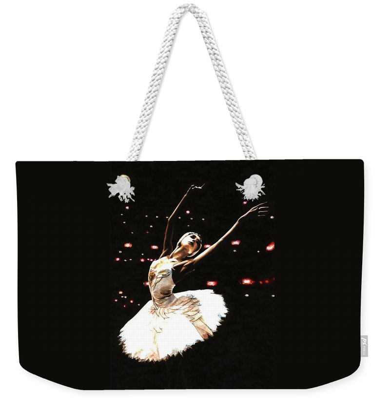 Prima Ballerina Weekender Tote Bag featuring the painting Prima Ballerina by Richard Young