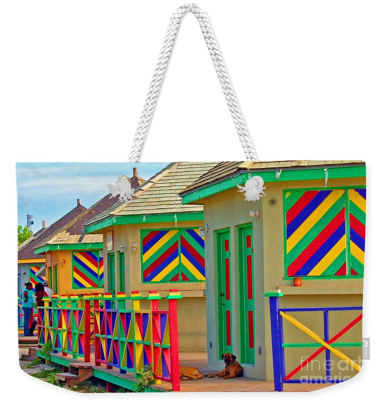 Vivid Weekender Tote Bag featuring the photograph Primary Colors by Debbi Granruth