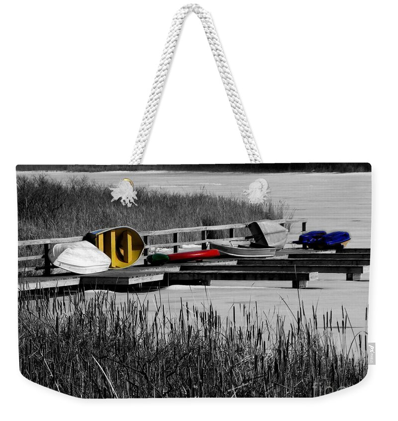 Yellow Weekender Tote Bag featuring the photograph Primary Colors How Plain Life Could Be Without by September Stone