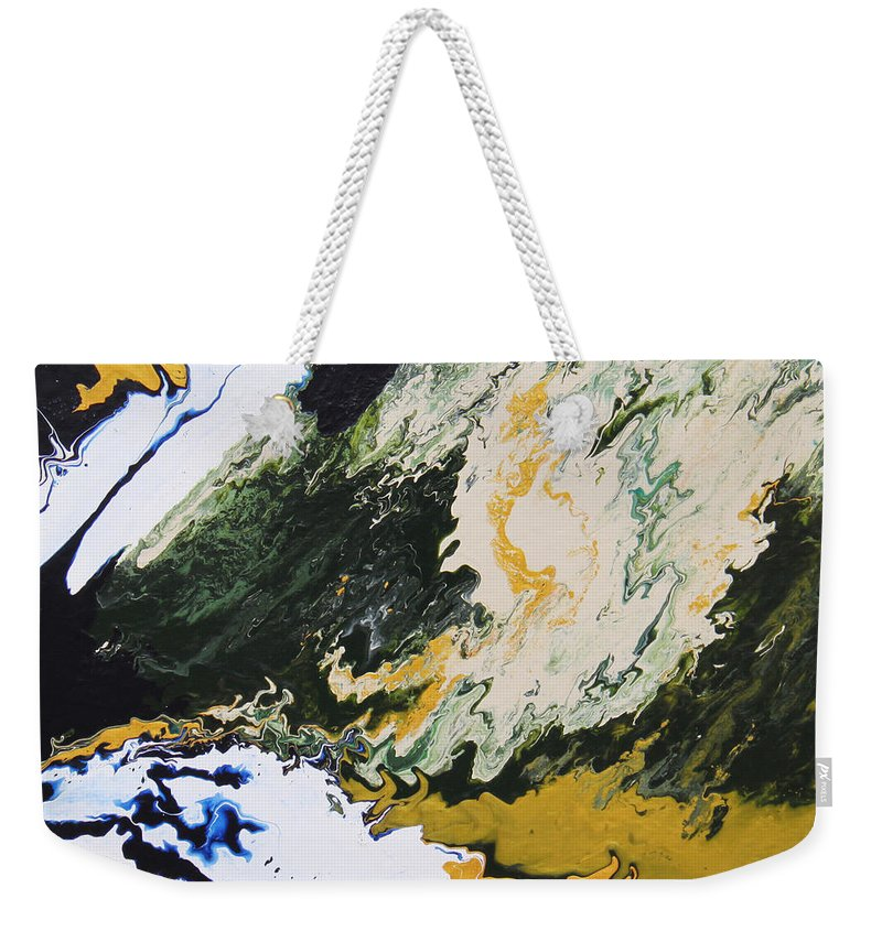 Fusionart Weekender Tote Bag featuring the painting Primeval by Ralph White