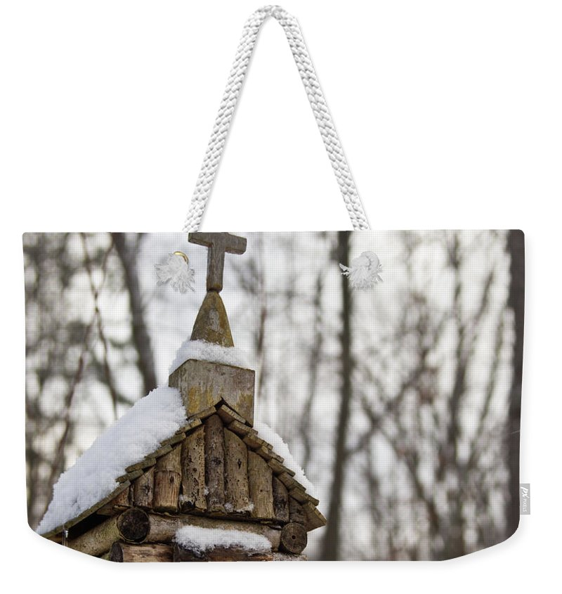 Primitive Church Weekender Tote Bag featuring the photograph Primitive Church In The Mountains by Douglas Barnett