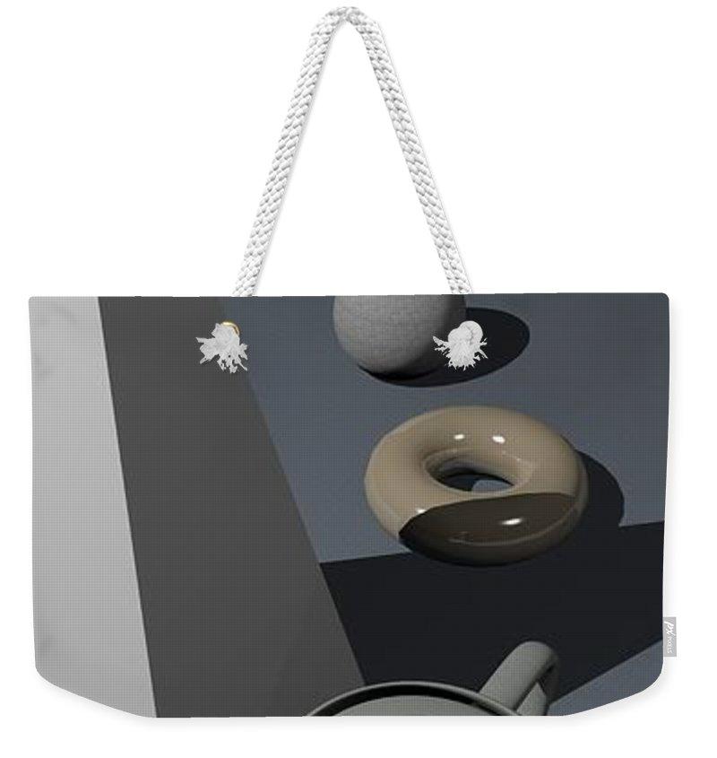 Primitives Weekender Tote Bag featuring the digital art Primitives by James Barnes