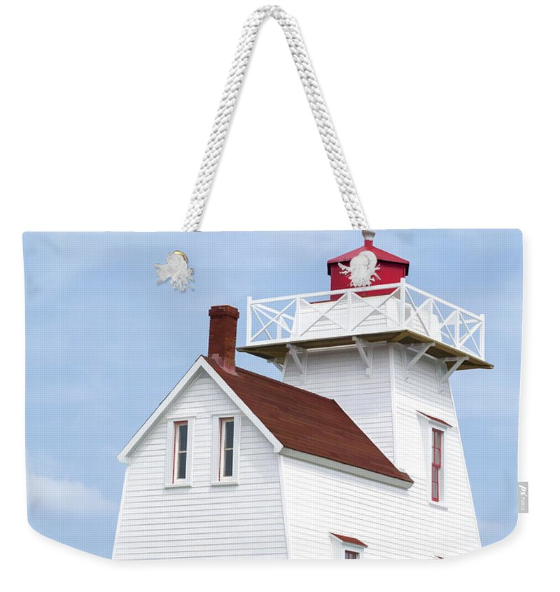 Lighthouse Weekender Tote Bag featuring the painting Prince Edward Island Lighthouse Poster by Edward Fielding