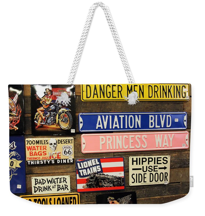 Signs Weekender Tote Bag featuring the photograph Princess Way by Jennifer Robin