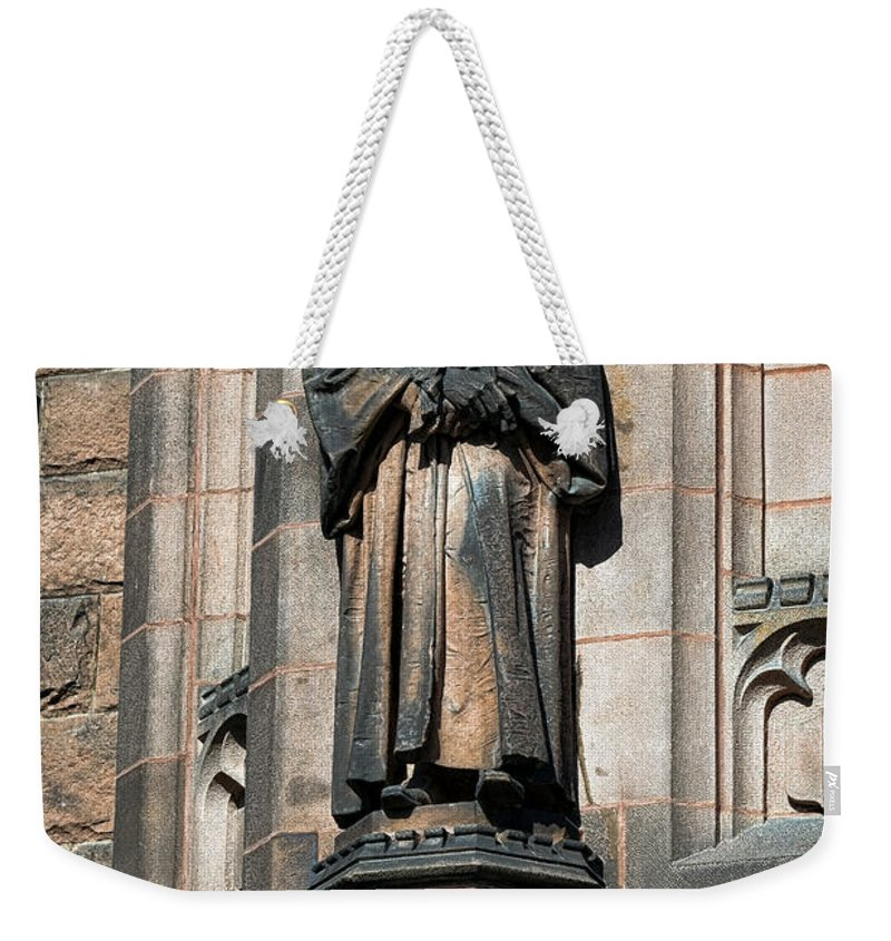 Princeton Weekender Tote Bag featuring the photograph Princeton University J Witherspoon Statue by Olivier Le Queinec